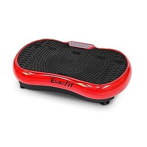 Everfit Vibration Machine Platform Plate Exercise Body Shaper Slimmer Power Fit Vibrating Fitness Black Oscillating…