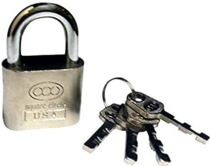 Square Double Locking System with 4 key's Hard Stainless Steel Imported Lock