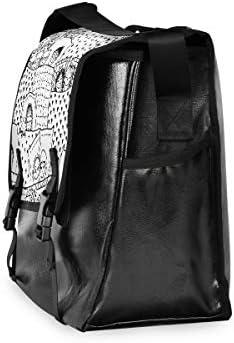 メッセンジャーバッグ メンズ 絵柄 幾何学模様 白黒 斜めがけ 肩掛け カバン 大きめ キャンバス アウトドア 大容量 軽い おしゃれ