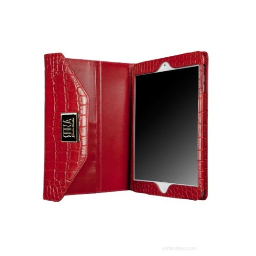 Sena Cases Leather Envy Case for Apple iPad mini, Croco Red (836017)