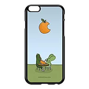 Rabtus and Cumber Orange Black Hard Plastic Case for iPhone 6 Plus by Miki Mottes + FREE Crystal Clear Screen Protector