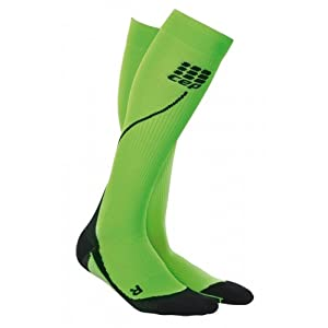 CEP Sportswear Run 2.0 20 30 mmHg Compression Sport Socks for Men in Flash Green