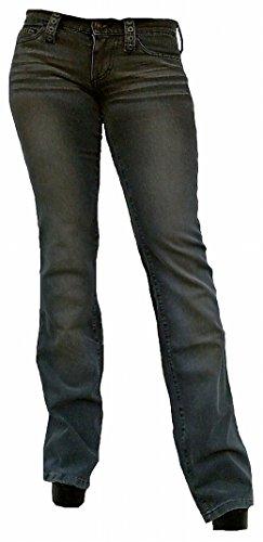 Design Star Wash Foro Boot Stone Stretch Donna Fornarina Jeans Pantaloni Rock Cut Grigio Outrage Rivetti pH6f1
