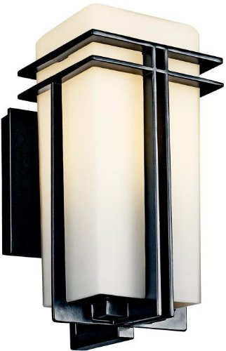 Kichler 49200BK Tremillo Outdoor Wall 1-Light, - Kichler Exterior Lighting Sconce Wall