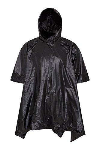 Mountain Warehouse Poncho impermeable - capa grabada de la lluvia de las costuras, Kaftan de las mujeres de Hoodie, peso ligero, fácil embalar, chaqueta compacta Negro