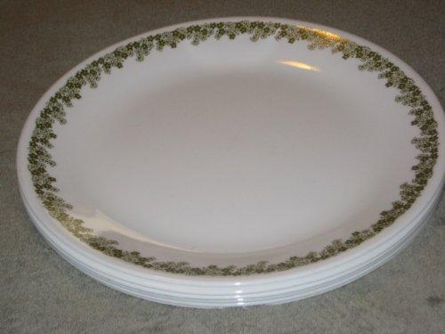SET OF 6 - Vintage Corning Corelle 10 Inch Spring Blossom Dinner Plates & Pyrex Dinner Plates. Set Of 6 - Corning Corelle Glass RoseMarie ...