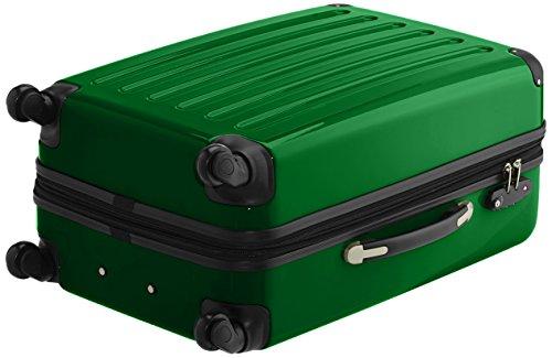 HAUPTSTADTKOFFER - Alex - 2er Koffer-Set Hartschale glänzend, TSA, 65 cm, 74 Liter, Graphit-Orange Grün-schwarz