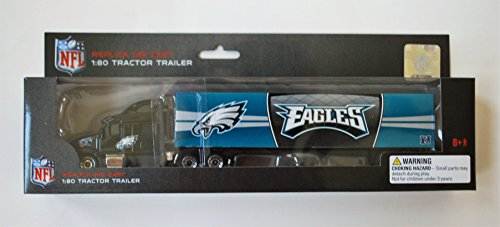 Press Pass 2012 NFL Tractor Trailer 1:80 Scale Diecast - PHILADELPHIA EAGLES (Trailer Diecast Tractor Nfl)