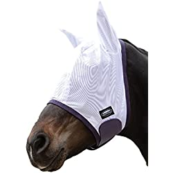 Weatherbeeta Comfitec Essential Fly Mask White/Purple/Black Full