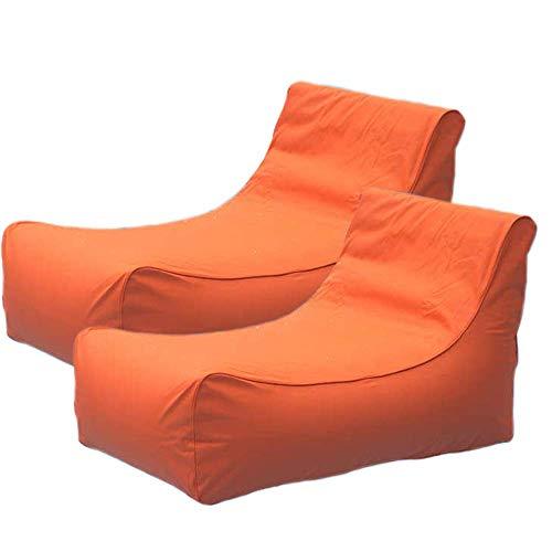 aruba -Two Pieces Inflatable w/ Unique Curved Design Pool Float, Orange