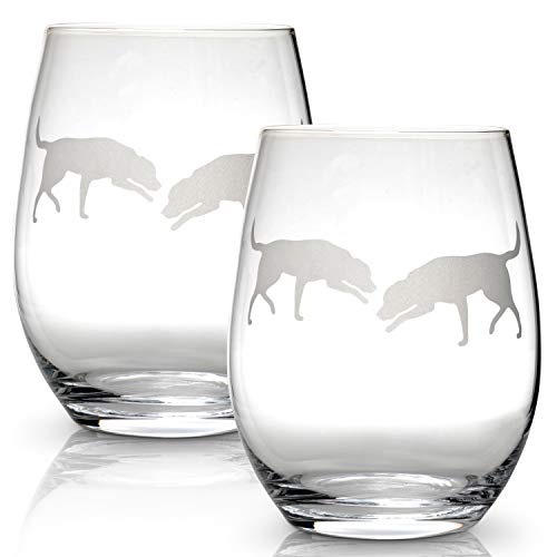 Used, Labrador Retriever Stemless Wine Glasses (Set of 2) for sale  Delivered anywhere in USA