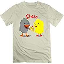 NOAC Men's Ducky And Chicky Sharing Is Caring! Personalized Short T-shirts