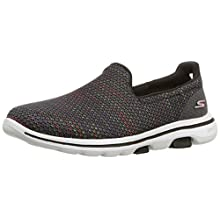Skechers Women's GO Walk 5-15934 Shoe, Black/Multi, 9.5 M US
