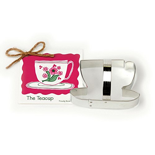 (Tea Cup Cookie and Fondant Cutter - Ann Clark - 4.3 Inches - US Tin Plated Steel)