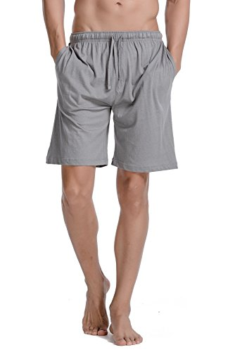 - CYZ Men's Comfort Cotton Jersey Shorts with Pockets-Greymelange-M