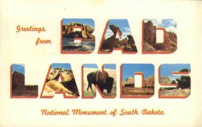 Badlands Postcard - 4