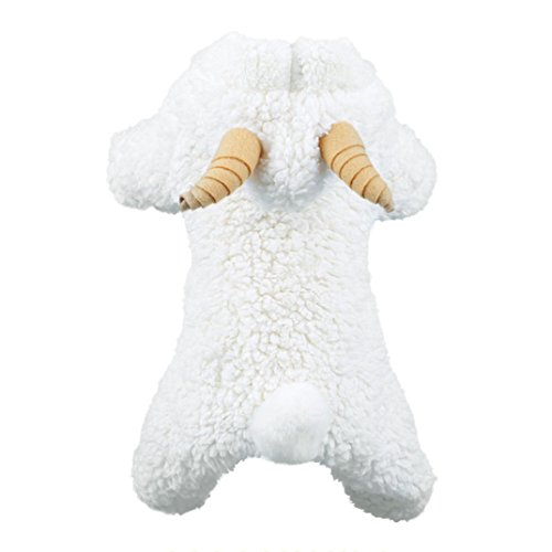 HCFKJ Pet Costume Unisex Pet Winter Hoodies Clothes Puppy Dog Cat Coat Dress Sweater Apparel White Sheep Clothes Jackets (XL) -