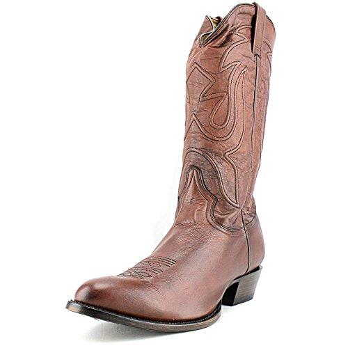 Stetson Heren Gepolijste Leren Cowboy Laars Met Ronde Neus - 12-020-7302-0323 Br Antiek Eiken Rundleder