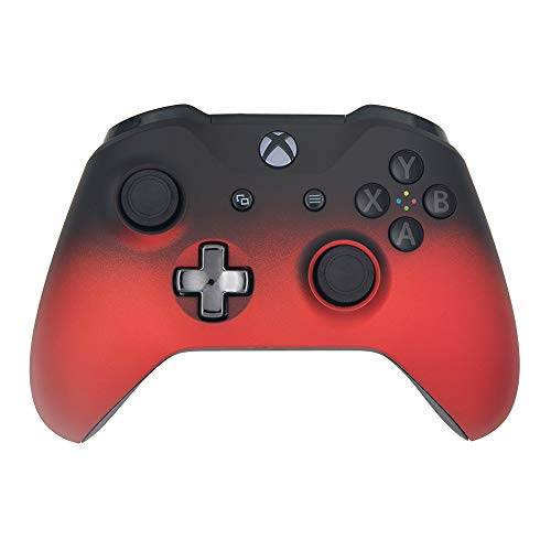 Volcano Shadow Wireless Controller Compatible Xbox One/Xbox One S Console - Features 3.5mm Headset Jack - Custom Chrome Steel Black D-pad - Grey on Black ABXY