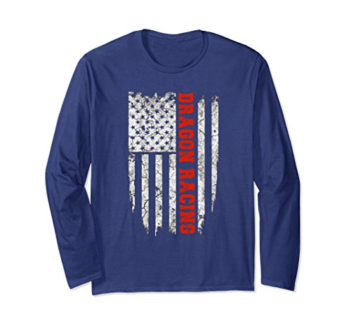 Usa Dragon Boat - Unisex American Sport Dragon Boat Racing T-Shirt USA Tee Shirts Large Navy