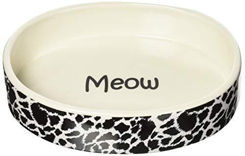 Savvy Tabby Wild Time Cat Dish, Black, 10-Ounce