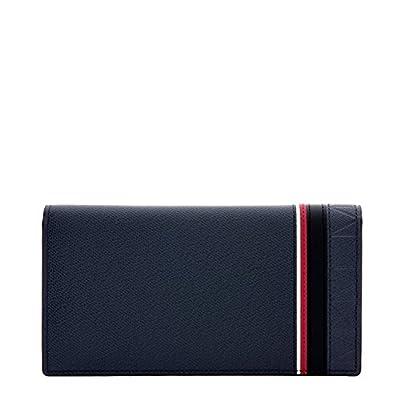 LQ LOUIS QUATORZE Sporty Long Secretary Leather Bifold Wallet for Men Gray SM1TH16STG One Size