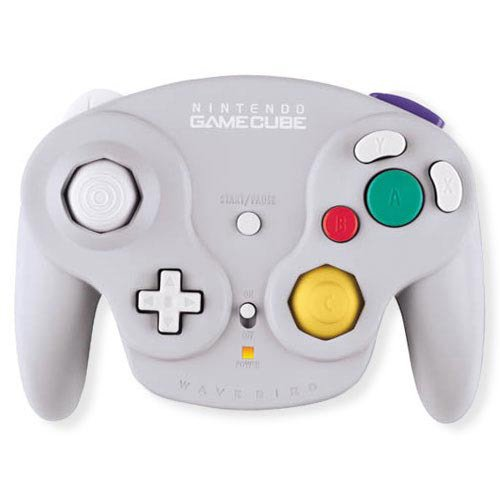 Gamecube Wavebird Wireless Controller Grey, Silver, Compatible with Wii