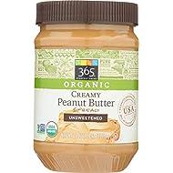 365 Everyday Value, Organic Creamy Peanut Butter, Unsweetened, 28 oz