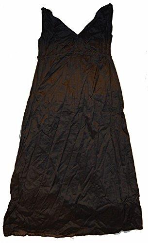Gap Sundress (GAP Maternity Black V-Neck Woven Ramie Maxi Sun Dress Size 4)