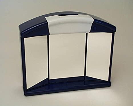 Armadietto a specchio salva di jokey marinblau con illuminazione in