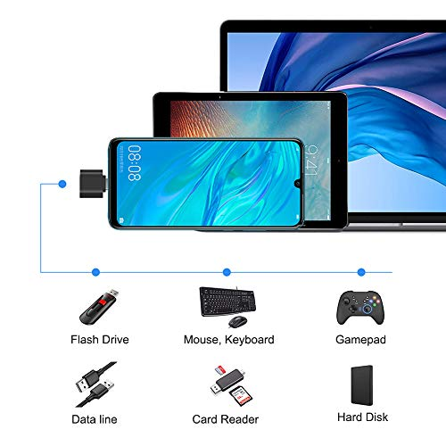 USB C to USB Adapter 2 Pack, Leizhan USB Type-C to USB 3.0 Adapter, USB C to USB A OTG Adapter Connector Compatible with Thunderbolt 3 MacBook Pro/Air 2019+,iPad Pro 2020,Samsung S8 S8+ S9,and More