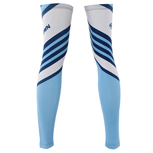 ZQXPP Z129 Unisex Sports Cycling Sun Protective Uv Cover Leg Sleeves-1 Pair
