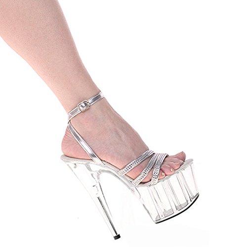 crystal sandali nozze YMFIE UE diamond La estate moda di e tacchi alto e 40 tacco alti argento bella EU drill 34 sexy Signore' party dita BpXxpHvq