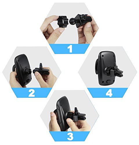 iPhone Car Holder, M-Better Air Vent Car Mount Cell Phones Holder with 360-degree Rotation for iPhone X 8 8 Plus 7 7 Plus 6s Plus 6s 5s 5c Samsung Galaxy S6 HTC LG Nexus Nokia GPS Device [50 SET] by M-Better (Image #5)