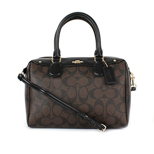 Coach Signature Mini Bennett Crossbody Satchel Black Brown by Coach