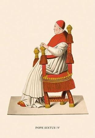 Amazon|キャンバスに教皇シクス...