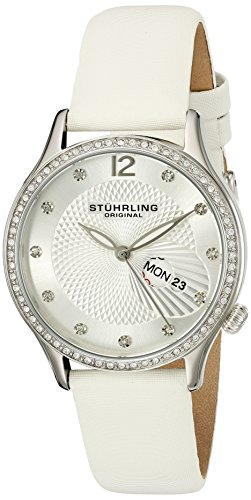 Stuhrling Original Women's 801.01 Analog Display Quartz White Watch