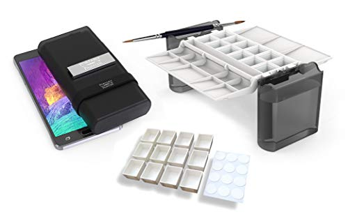 Portable Painter Pro Bundle | Watercolor Palette with Extra Set of Half-Pans | Travel - Pocket Size - Quality | Simplify Your Life