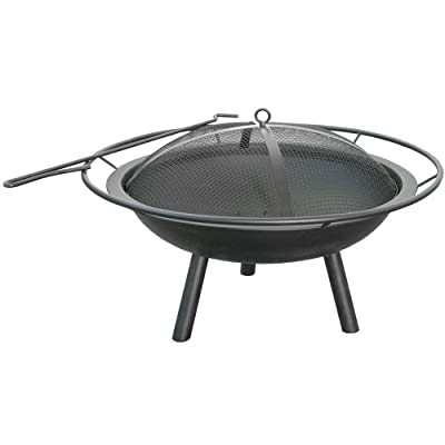 Landmann USA 28240 Halo Fire Pit - Spark Guard and Poker included Provides 360 degree view of fire Large handle for easy transport - patio, fire-pits-outdoor-fireplaces, outdoor-decor - 41rJFzkkSkL. SS400  -
