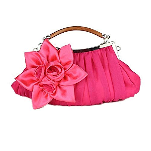 WeiSocket , Pochette pour femme Rose Rouge