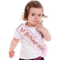 Wanna Party 1st Birthday Sash for Girl's ( Pink) (Multicolour)