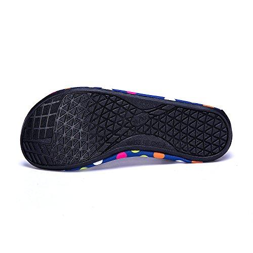 Color Agua de de de Agua LEKUNI LK Zapatos Soles red Dd de Rápido Calzado Respirable Unisex Zapatos Secado de Piscina Natación Playa qf6qn8wIx