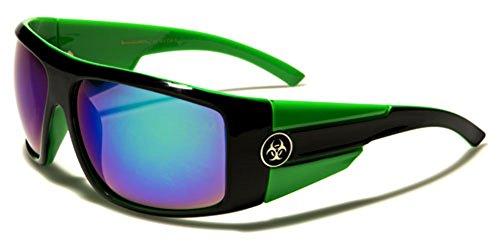 Oversized Square Flat Top Men's Fashion Sunglasses Color Mirror Lens