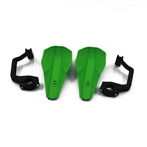 Motor Racing Brush (JFG RACING Green Handguards 22mm and 28mm Hand Guards Brush Bar For Motorcycle Dirt Bike Motocross Kawasaki KX65 KX85 KX125 KX250 KX500)