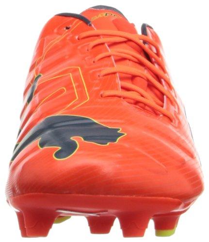 Puma Mens Evopower En Fast Mark Fotboll Sko Fluorescerande Persika / Ombre Blå / Fluorescerande Gul