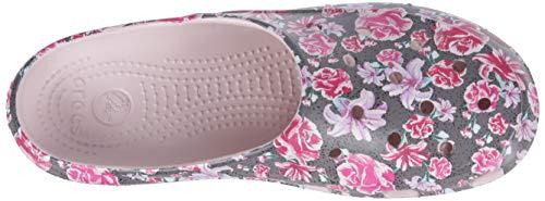 Clog rose Freesail Femme Crocs sabots Floral Women Multi Graphic Dust v8UwwqE