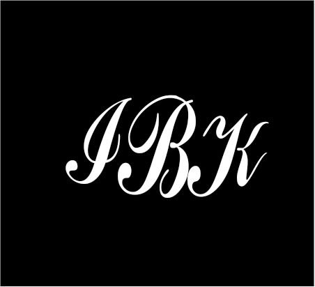 3-white-monogram-3-letters-ibk-initials-script-style-vinyl-decal-great-size-for-cups-or-use-on-any-s