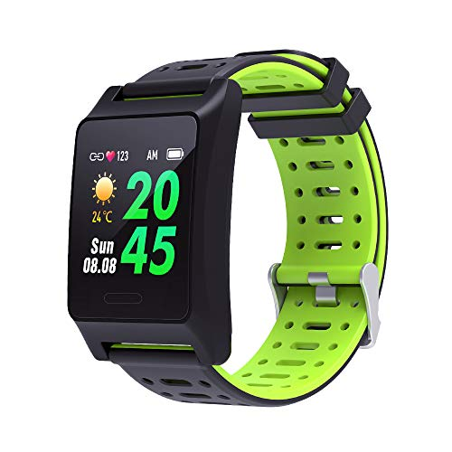BANAUS W10 GPS Running Smartwatch Fatigue Analysis Heart Rate/Sleeping/Fatigue Monitor IP68 Waterproof Fitness Tracker with Multi-Sports Mode(Green)