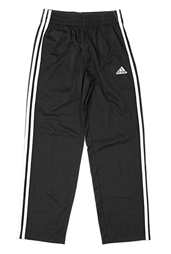adidas Big Boys Youth Athletic Tech Fleece Pants, Black/White