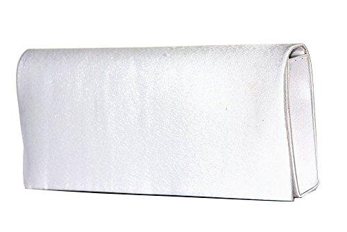 Bag Satin Blanc Clutch Soirée Sac formel 2088 Fashion Pochettes Mod By De wxHAgIIqXp